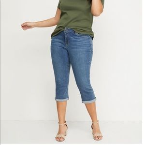 Lane Bryant Super Stretch Crop Jeans NWT Size 14